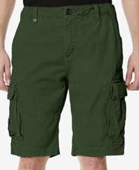 Buffalo David Bitton Men's Havem Cargo Shorts Fern Camo