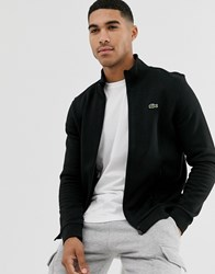 Lacoste Sport Logo Zip Through Sweat In Black