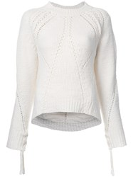 3.1 Phillip Lim Pointelle Jumper White
