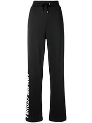 Red Valentino Forget Me Not Track Pants Black