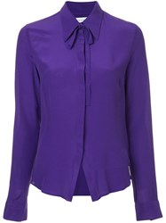 Cnc Costume National Tie Collar Shirt Purple