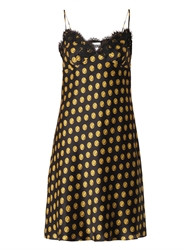 Moschino Button Print Silk Slip Dress
