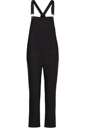Hatch The Randall Cotton Jacquard Overalls Black