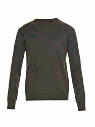 Alexander Mcqueen Camouflage Skull Double Jacquard Sweater