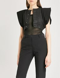 Drkshdw Cropped Cotton Jacket Black Black