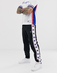 Champion Woven Jogger With Logo Taping In Black