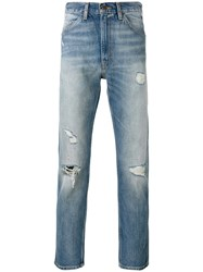 Levi's Vintage Clothing Distressed Cropped Jeans Blue