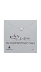 Dogeared Friendship Necklace Silver Pearl