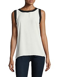 Vince Camuto Colorblock Tank Top New Ivory