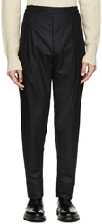Lemaire Black Wool Flannel Trousers