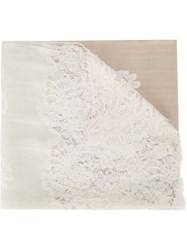 Janavi Lace Panel Scarf Nude And Neutrals