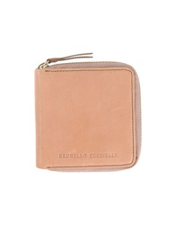 Brunello Cucinelli Wallets Camel