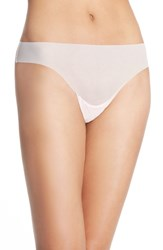 Women's Halogen No Show Mesh Thong Pink Veil Rose