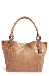 Frye 'Melissa' Washed Leather Tote Beige