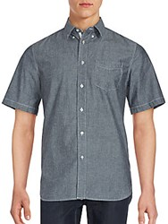 Rag And Bone Short Sleeve Sportshirt Chambray