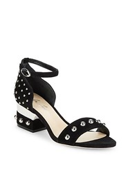 Isa Tapia Studded Leather Sandals Black
