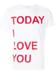 Ermanno Scervino Today I Love You T Shirt White