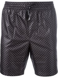 Dolce And Gabbana Polka Dot Swim Shorts Black