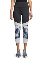 Marika Kendall Infusion High Rise Capri Leggings Black Multi