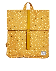 Herschel City Backpack In Polka Dot Yellow