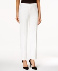 Kasper Petite Kristy Straight Leg Pants White