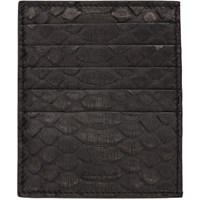 Rick Owens Black Python Card Holder