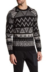 Antony Morato Printed Knit Sweater Black