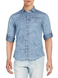 Ck Calvin Klein Regular Fit Quadrant Check Sportshirt Indigo