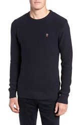 Knowledge Cotton Apparel Knowledgecotton Owl Textured Sweater Navy
