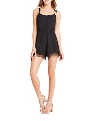 Bcbgeneration Lace Trim Romper Black