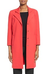 Women's Classiques Entier 'City Weave' Double Collar Topper Red Tomato