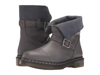 Dr. Martens Kristy Slouch Rigger Boot Lead Virginia Women's Pull On Boots Gray