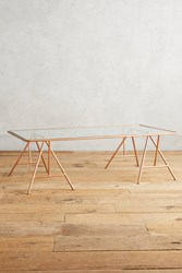 Anthropologie Isosceles A Frame Coffee Table Coral