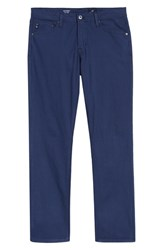Ag Jeans Everett Houndstooth Slim Fit Pants Chambray Blue