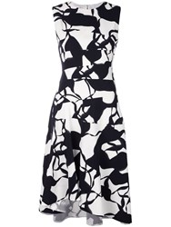 Narciso Rodriguez Abstract Pattern Dress White