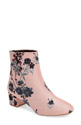 Topshop Women's Blooming Floral Bootie Pink Multi