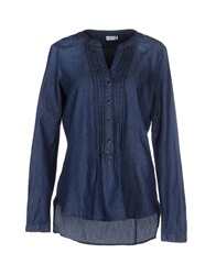 Jdy Jacqueline De Yong Denim Shirts Blue