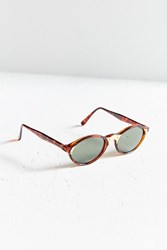 Vintage Cecily Oval Sunglasses Brown Multi