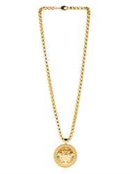 Versace Medusa Gold Plated Medallion Necklace