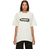 Vetements White 'Sunday' Weekday T Shirt