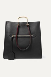 Alexander Mcqueen The Story Two Tone Leather Tote Black