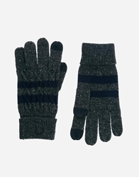 Fred Perry Cable Tipped Touch Screen Gloves Grey