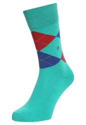 Burlington King Socks Sea Green Turquoise