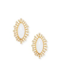 Sequin Mother Of Pearl Burst Stud Earrings Gold