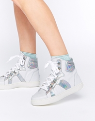 Tba To Be Announced Crime High Top Trainers Whiteleather