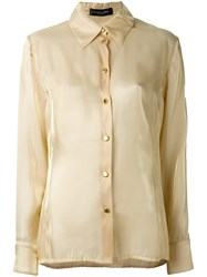 Jean Louis Scherrer Vintage Classic Shirt Nude And Neutrals