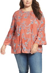 Caslonr Plus Size Women's Caslon Peasant Blouse