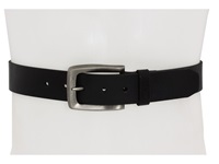 John Varvatos 38Mm Strap Black Leather Nickel Men's Belts