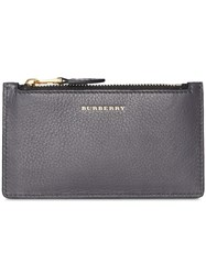 Burberry Two Tone Leather Card Case Grey