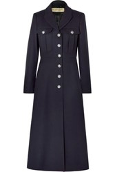 Burberry Wool Coat Navy